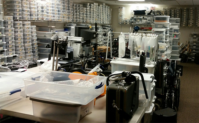 Photo of AzTAP Equipment Storage Room